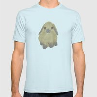 Rabbits And Bunnies Mens Fitted Tee Light Blue SMALL