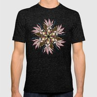 Flemish Floral Mandala Mens Fitted Tee Tri-Black SMALL