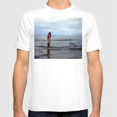 A boy and The Sea 2 Mens Fitted Tee SMALL White