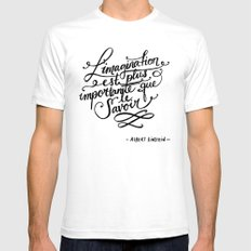 L'imagination White Mens Fitted Tee SMALL