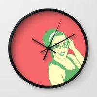 self portrait 2 Wall Clock