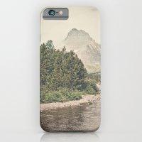 iPhone & iPod Case featuring Retro Mountain River by Kurt Rahn