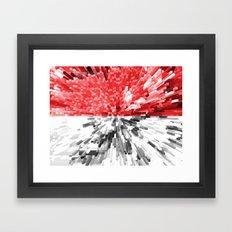 Poland Flag - Extrude Framed Art Print