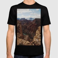 Marble Canyon Mens Fitted Tee Black SMALL