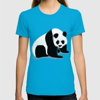 Rough Panda Womens Fitted Tee Teal SMALL