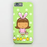 iPhone & iPod Case featuring Easter Chicks by Pigtails