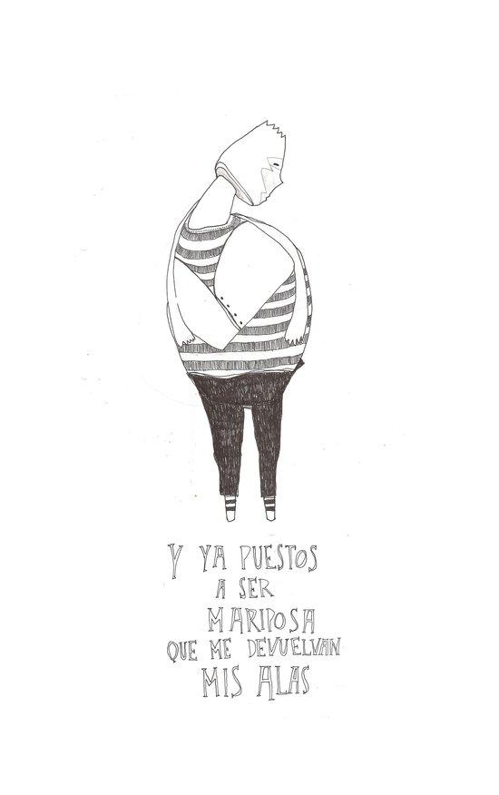 Hombre Mariposa Canvas Print