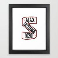 AJAX AMSTERDAM 020 Framed Art Print