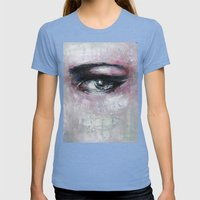 Quiet-Colored End Of Eve… Womens Fitted Tee Tri-Blue SMALL