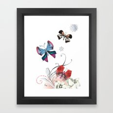 Butterfly Spring Framed Art Print