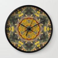 Kangaroo Paw Kaleidoscop… Wall Clock