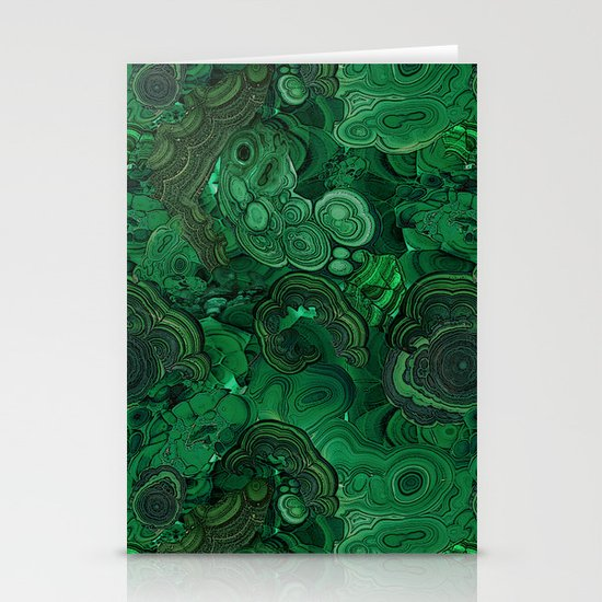 malachite Stationery Card