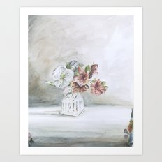 Intimacy (Pear blossom, Azalea)   Art Print