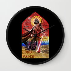 STAR WARS Stained Glass Lord Vader Wall Clock
