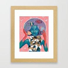 Lunar Aquarium Framed Art Print