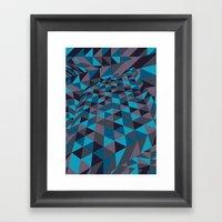 Triangulation (Inverted) Framed Art Print