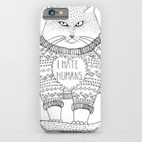 I hate humans. iPhone 6 Slim Case