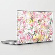 Laptop & iPad Skin featuring Pink Elegant Watercolor … by Pink Water