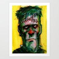 Frankensteins Monster is tired Art Print