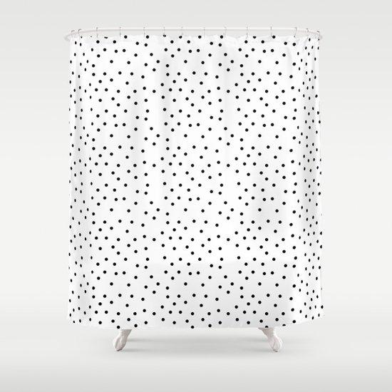 Random Polka ///www.pencilmeinstationery.com Shower Curtain