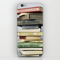 Stacked Vintage Books iPhone & iPod Skin