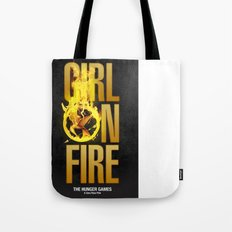 Hunger Games - Girl on Fire Tote Bag