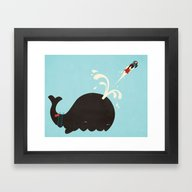 Avian Cannonball Framed Art Print