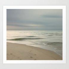 Beach Impression Art Print