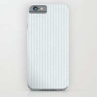 PATTERN: BLUE WAVE LINES iPhone 6 Slim Case