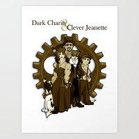 Dark Charity & Clever Jeanette Art Print