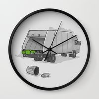 Accident on Sesame St.  Wall Clock