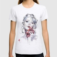 Your Heart Womens Fitted Tee Ash Grey SMALL