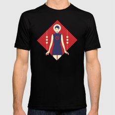 Isolde Red Mens Fitted Tee Black SMALL