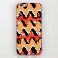 Orange and Black Zig Zag Pattern Print iPhone & iPod Skin