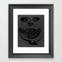 Smiley Face Framed Art Print