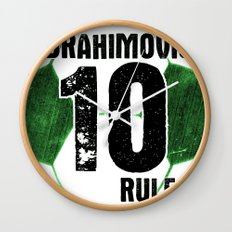 Ibrahimovic 10 Rules Wall Clock