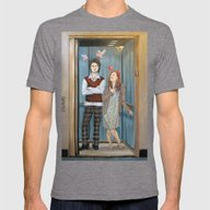 Unrequited Love In An El… Mens Fitted Tee Tri-Grey SMALL