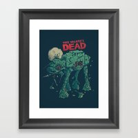 Walker's Dead Framed Art Print
