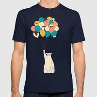 Penguin Bouquet Mens Fitted Tee Navy SMALL