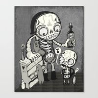 Skulls Night Out Canvas Print
