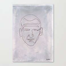 One line Doctor Who (Christopher Eccleston) Canvas Print
