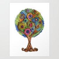 Magical tree Art Print
