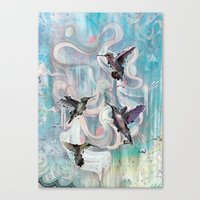 Hummingbirds Canvas Print