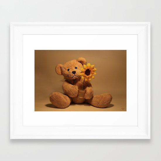A flower for you Framed Art Print