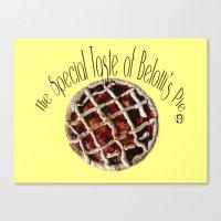The special taste of Belotti's pie Canvas Print