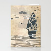 ship Stationery Cards featuring Ship by Emily Rose Scott
