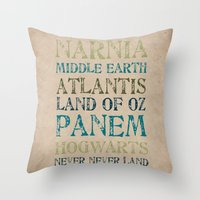 Fantasy Realms Throw Pillow