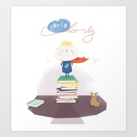 Supercharly! Art Print