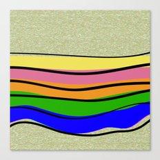 70's X VHS Babe: Rainbow… Canvas Print