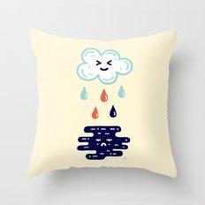 Here Comes The Rain Throw Pillow